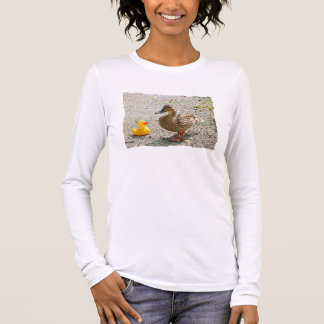 Rubber Duck and Mother Duck Long Sleeve T-Shirt