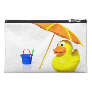 Rubber duck at the beach travel accessories bags