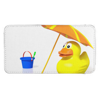 Rubber duck at the beach galaxy s4 pouch