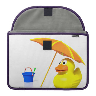 Rubber duck at the beach MacBook pro sleeve