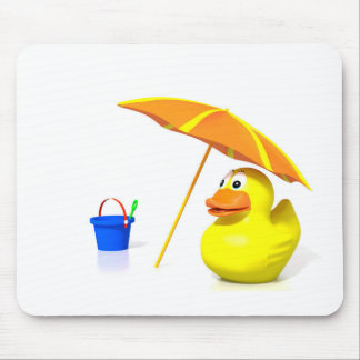 Rubber duck at the beach mousepad