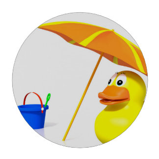 Rubber duck at the beach poker chips