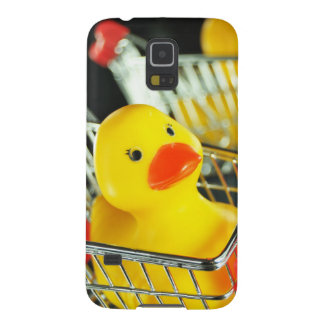 Rubber duck baby shopping concept case for galaxy s5
