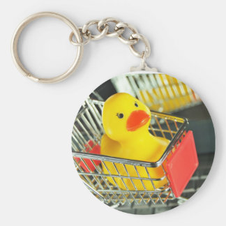 Rubber duck baby shopping concept keychain