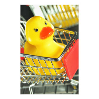 Rubber duck baby shopping concept customized stationery