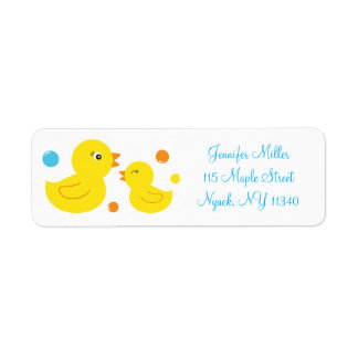 Rubber Duck Baby Shower Address Label