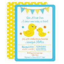 Rubber Duck Baby Shower Die Cut Card