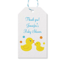 Rubber Duck Baby Shower Gift Tags