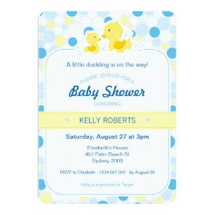 Duck invitations announcements zazzle rubber duck baby shower invitation stopboris Images