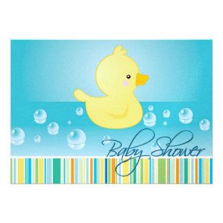 Rubber Duck Baby Shower Invite
