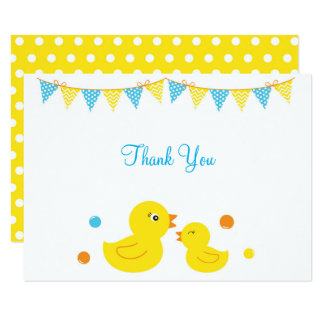 Rubber Duck Baby Shower Thank You Card