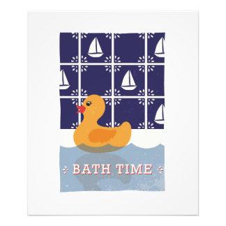 Rubber Duck Bath Children's Wall Art