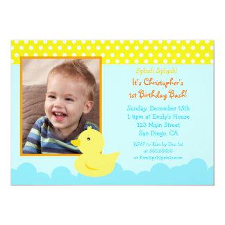 Rubber Duck Birthday Invitations