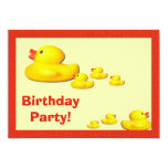 Rubber Duck Birthday Party Invitation