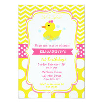 Rubber Duck Birthday Party Invitations