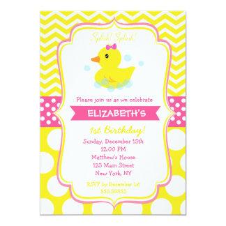 Rubber Duck Invitations Announcements Zazzle