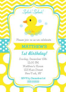 Duck birthday invitations zazzle rubber duck birthday party invitations filmwisefo