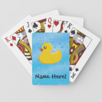 Rubber Duck Blue Bubbles Personalized Kids Playing Cards