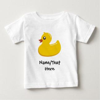 Rubber Duck Blue Bubbles Personalized Kids T-shirt