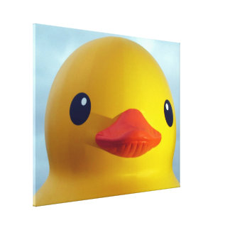 rubber duck canvas print