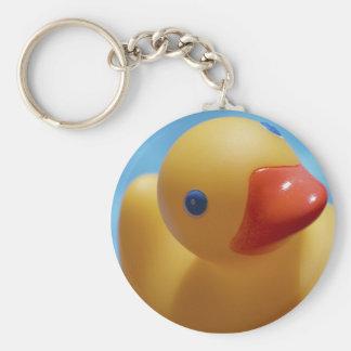 Rubber Duck Close-Up Basic Round Button Keychain