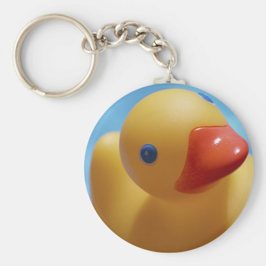 Rubber Duck Close-Up Keychain