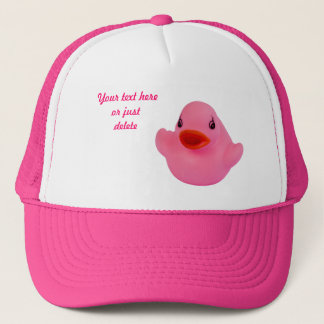 Rubber duck cute fun pink custom hat, cap, gift trucker hat