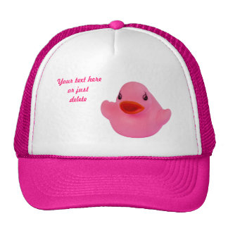 Rubber duck cute fun pink custom hat, cap, gift trucker hat