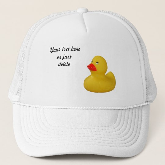 f5d2f4bd59c Rubber duck cute fun yellow custom hat