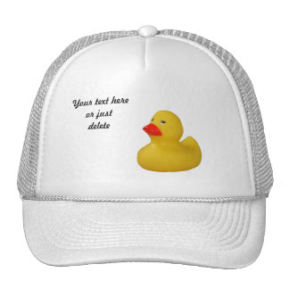 Rubber duck cute fun yellow custom hat, cap, gift trucker hat