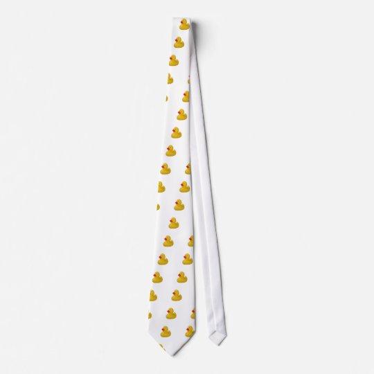 Rubber duck cute fun yellow mens neck tie