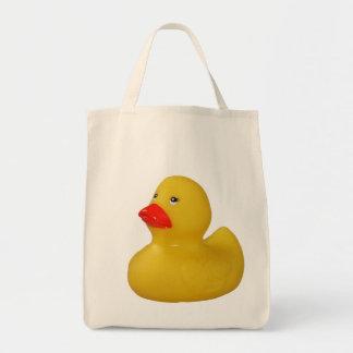 Rubber duck cute fun yellow shopping tote bag