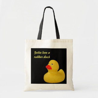 Rubber duck cute yellow custom shopping tote bag