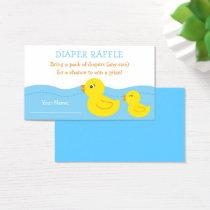 Rubber Duck Diaper Raffle Tickets