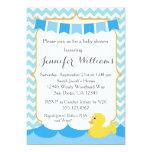 Rubber Duck Ducky Baby Shower Invitation
