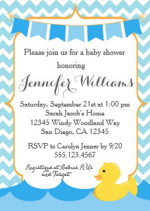 Rubber ducky baby shower invitations zazzle rubber duck ducky baby shower invitation filmwisefo