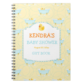 Rubber Duck Ducky Gender Neutral Baby Shower Notebook
