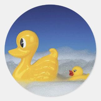 Rubber Duck Family Classic Round Sticker