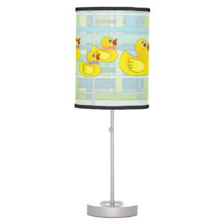 Rubber Duck Family on Henry Plaid Table Lamp