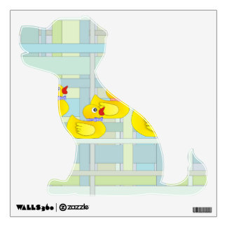 Rubber Duck Family on Henry Plaid Wall Sticker