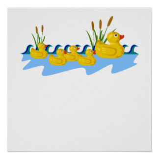 Rubber Duck Family Poster