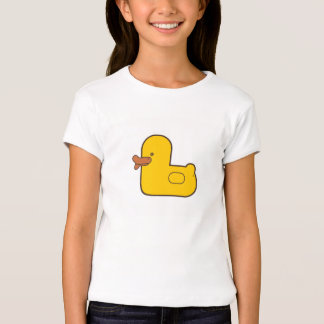 Rubber Duck Girls' Fitted Babydoll T-Shirt