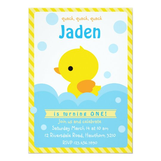 Rubber Duck Invitation Duck Invitation Zazzlecom