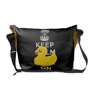 Rubber Duck Keep Calm Fun Rickshaw Bags Commuter Bags