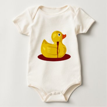 Halloween Themed Rubber Duck Neck Shot - Bleeding Rubber Ducky Baby Bodysuit