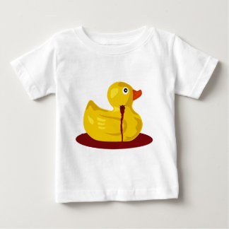Rubber Duck Neck Shot - Bleeding Rubber Ducky Baby T-Shirt