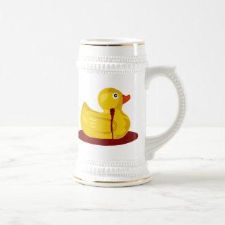 Rubber Duck Neck Shot - Bleeding Rubber Ducky Beer Stein