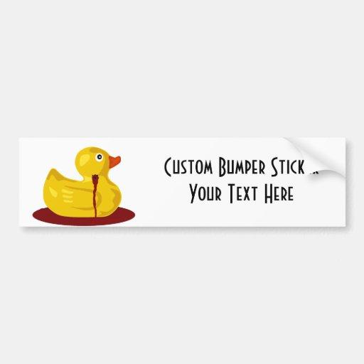 Rubber Duck Neck Shot - Bleeding Rubber Ducky Bumper Sticker
