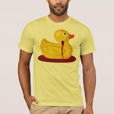 Halloween Themed Rubber Duck Neck Shot - Bleeding Rubber Ducky T-Shirt