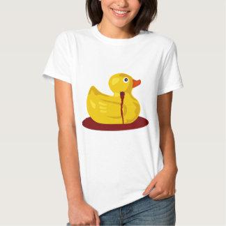 Rubber Duck Neck Shot - Bleeding Rubber Ducky T-Shirt